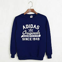 Свитшот мужской с принтом Adidas Originals 1949 Адидас Кофта темно-синяя (реплика)