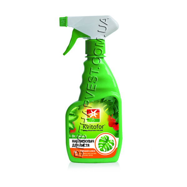 Доктор Блеск 300 мл «Чистый Лист» предание блеска комнатным растениям, оригинал