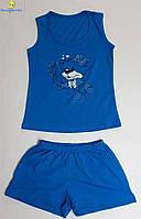 Комплект подростковый шорты с майкой, размеры от 34 до 44, Украина Джинсовый
