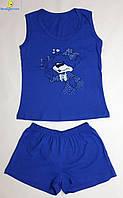 Комплект подростковый шорты с майкой, размеры от 34 до 44, Украина Синий