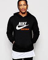 Черная толстовка с принтом Найк Nike Sportswear Худи (реплика)