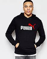 Черная мужская толстовка с принтом Пума Puma Худи (реплика)