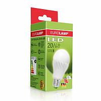 """LED Лампа EUROLAMP ЕКО серия """"D"""" А65 20W E27 3000K (50)"""