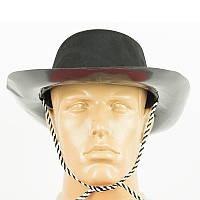Шляпа детская ковбоя флок детская (черная) 250617-022