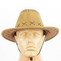 Шляпа ковбоя замшевая детская (коричневая) 250617-020