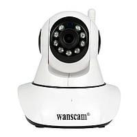 Поворотная записывающая Wi Fi IP камера Wanscam HW0041-2 SD FULL HD, фото 1