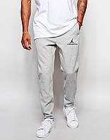 Трикотажные спортивные штаны Джордан Jordan серые (реплика)