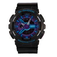 Распродажа! Спортивные стильные часы Casio G-Shock ga-110 Black-violet