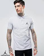 Серая футболка поло с принтом Jordan Джордан тенниска