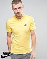 Футболка для парня Поло желтая с принтом Nike Найк тенниска (реплика)