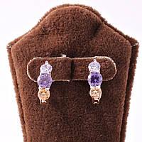Серьги-кольца с кристаллами