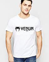 Футболка стильная Venum Венум белая (большой принт) (реплика)