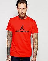 Молодежная футболка  красная Jordan Джордан (большой принт) (реплика)