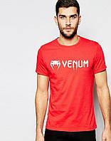 Футболка для парня Venum Венум красная (большой принт) (реплика)