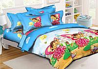 Детский комплект постельного белья 3Д полуторный, ранфорс 100% хлопок. (арт.7632)