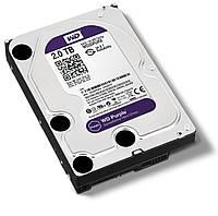 Жесткий диск 3.5' 2Tb Western Digital Purple, SATA3, 64Mb, IntelliPower (WD20PURX) для систем наблюдения с уникальной технологией AllFrame