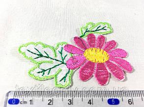 Нашивка квіточка колір малиновий ., фото 2