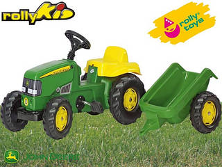 Rolly Toys Трактор с Прицепом Kid John Deere
