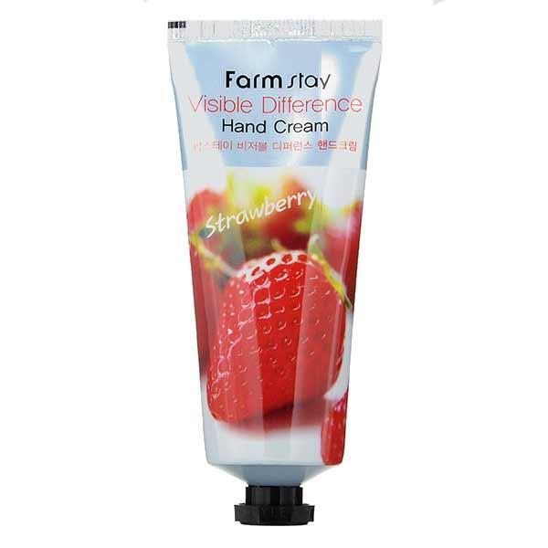 Крем для рук с экстрактом клубникиFarmStay Visible Difference Hand Cream Strawberry