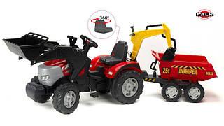 FALK Трактор-экскаватор с прицепом McCormick