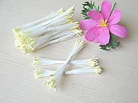 Тайские тычинки ручной работы, 100 % эффект реалистичности! Светлый лимон. 25 ниток (50 головок)