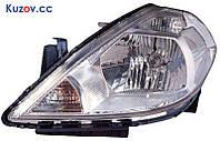 Фара Nissan Tiida 05-14 левая (DEPO) электрич. европ. версия
