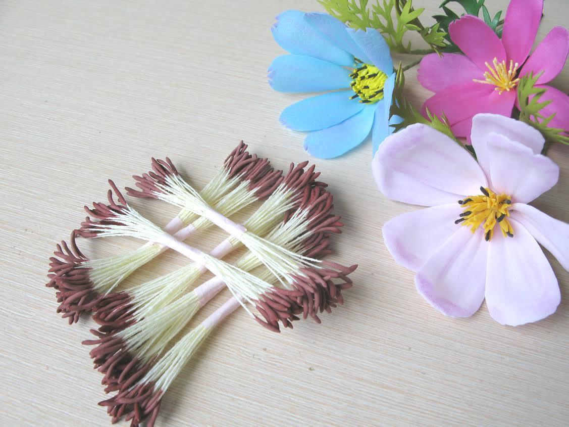Тайские реалистичные тычинки ручной работы! КОРИЧНЕВЫЕ - палочки. 25 ниток(50 головок)