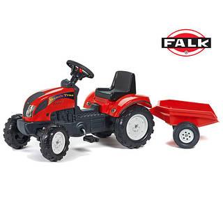 FALK Трактор с Прицепом RANCH Красный