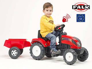 FALK Трактор с прицепом RANCH TRAC красный