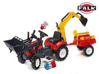 FALK Трактор-экскаватор с прицепом RANCH  красный