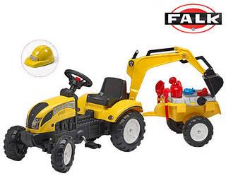 FALK Трактор-экскаватор с прицепом RANCH желтый