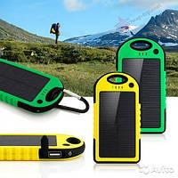 Солнечное зарядное устройство аккумулятор Power Bank 28000 mAh с фонариком, Led лампой