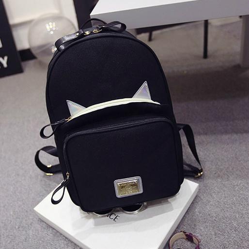 5c3f33ace0f Школьный рюкзак с блестящими ушками
