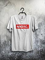 Футболка мужская Nike Найк белая (большой  принт) (реплика)