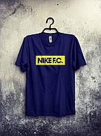 Футболка мужская Nike Найк темно-синяя (большой принт) (реплика)