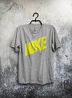 Футболка мужская Nike Найк серая (большой принт) (реплика)