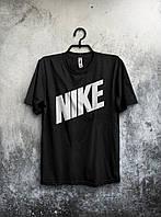 Футболка Nike Найк черная (большой принт) (реплика)
