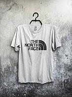 Футболка  мужская The North Face Зе Норт Фэйс белая (большой принт) (реплика)