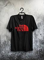 Черная футболка мужская The North Face Зе Норт Фэйс (большой принт) (реплика)