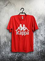 Модная футболка Kappa Каппа красная (большой принт) (реплика)