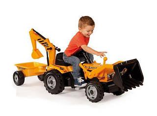 SMOBY Трактор Max с прицепом и ковш экскаватор