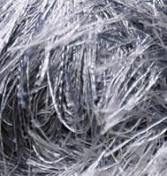 Турецкая пряжа для вязания нитки Alize  DECOFUR (Декафур) травка 87 угольно  серый