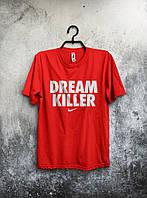 Футболка мужская Nike Dream Killer Дрим Киллер Найк красная (большой принт) (реплика)