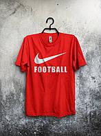 Красная футболка Nike Football Футбол Найк (большой  принт) (реплика)