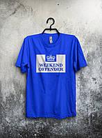 Синяя футболка Weekend Offender (большой принт) (реплика)