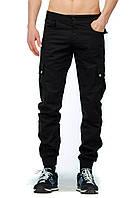 Штаны Карго Cargo Pants Classic черные с манжетами (реплика)