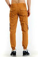 Штаны стильные Карго Cargo Pants Classic горчица с манжетами (реплика)