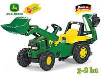 Rolly Toys Детский трактор Junior John Deere с ковшом