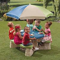 Step 2 Детский стол для пикника с зонтиком