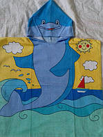 Полотенце-пончо с капюшоном ДельфинФлиппер